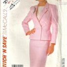 Misses Jacket Skirt Vintage Sewing Pattern McCalls 2324 Size 14 16 18