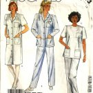 Misses Nurses Shirt, Top, Pants Sewing Pattern McCalls 2313 Size 16