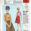 McCalls Fels Soap Misses Top Skirt Vintage Sewing Pattern Size 12
