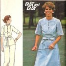 Misses Dress Top Pants Vintage Sewing Pattern Butterick 4699 Size 16