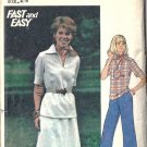 Misses Top, Skirt, Pants 42, 44 Vintage Sewing Pattern Butterick 4696