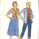 Misses 70s Shirt, Skirt, Pants Sewing Pattern Butterick 4645 Size 5, 6