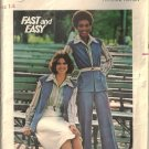 Misses Vest, Skirt, Pants 70s Sewing Pattern Butterick 4640 Size 14