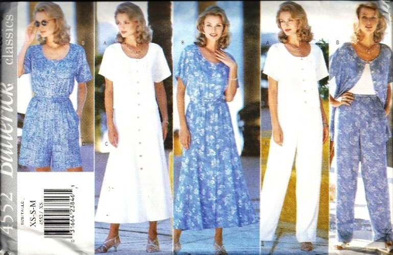 Misses Top, Skirt, Pants Sewing Pattern Butterick 4552 Size XS, S, M