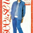 Misses Jacket Top Pants Sewing Pattern Butterick 4449 XS, S, M