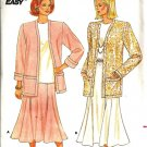 Misses 80s Jacket, Skirt, Top Sewing Pattern Butterick 4432 Size L, XL