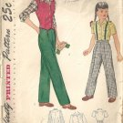 Girls 40s Pants, Vest, Blouse Sewing Pattern Simplicity 2003 Size 6