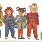 Girls Dress Jumpsuit Leggings Hat Sewing Pattern Butterick 3047 Sz 1, 2