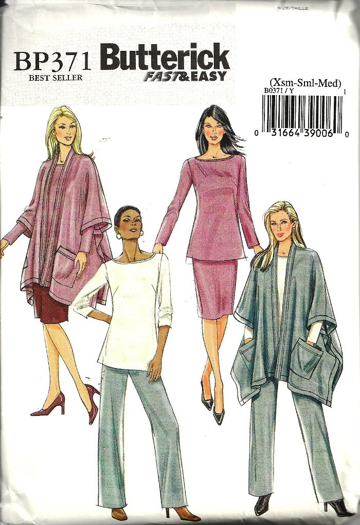 Misses Jacket, Top, Skirt Sewing Pattern Butterick BP371 Size XS, S, M