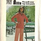 Misses Pullover Top, Pants 70s Sewing Pattern Butterick 3881 Size 14