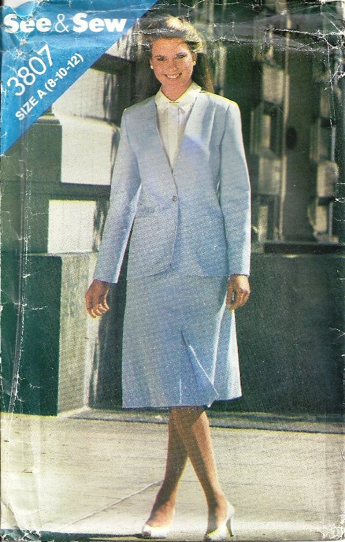Misses Jacket, Skirt Sewing Pattern Butterick 3807 Size 8, 10, 12