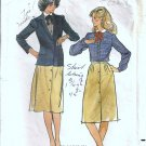 Misses 70s Jacket, Blouse, Skirt Sewing Pattern Butterick 3432 Size 14