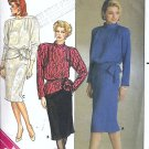 Misses Top, Skirt 80s Sewing Pattern Butterick 3413 Size 12