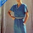 Misses V Neck Dress Sewing Pattern Butterick 3085 Size 8, 10, 12