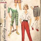 Girls 50s Pants, Shorts Vintage Sewing Pattern Simplicity 3493 Size 10