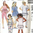 McCalls 5376 Girls Top, Leggings Sewing Pattern Size 7, 8, 10