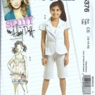 McCalls 5376 Sewing Pattern Girls Jacket Shorts Capris Size 12, 14, 16