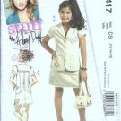 McCalls 5417 Girls Jacket Skirt Hilary Duff Sewing Pattern Sz 12, 14, 16