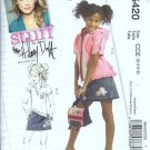 McCalls 5420 Girls Jacket, Top, Skirt Sewing Pattern Size 3, 4, 5, 6
