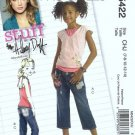 McCalls 5422 Girls Sewing Pattern Halter Top, Capris Size 7, 8, 10, 12, 14