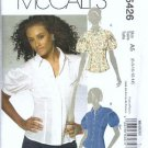 McCalls 5426 Misses Shirt Sewing Pattern Size 6, 8, 10, 12, 14 Uncut