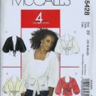 McCalls 5428 Misses Shrug, Top Sewing Pattern Size 16, 18, 20, 22