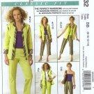 McCalls 5432 Misses Jacket, Vest, Pants Sewing Pattern S 8, 10, 12, 14