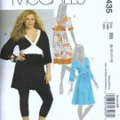 McCalls 5435 Misses Tunic, Dress Sewing Pattern Size 8, 10, 12, 14