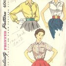 Simplicity 4256 Misses Blouse Vintage Sewing Pattern Size 16