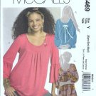 McCalls 5469 Misses Tunic Sewing Pattern Size 4, 6, 8, 10, 12, 14