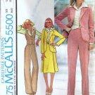 McCalls 5500 Misses Jacket Vest Skirt Pants Sewing Pattern Size 16