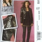 McCalls 5515 Misses Leather Jacket, Pants Sewing Pattern Size 4, 6, 8, 10