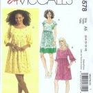 McCalls 5578 Misses Dress Sewing Pattern Size 6, 8, 10, 12, 14 Uncut
