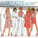 McCalls 5579 Misses Cowl Top, Skirt, Pants Vintage Sewing Pattern Size 14, 16