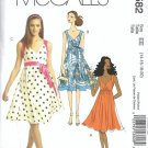 Misses Halter Dress Sewing Pattern McCalls 5582 Size 14, 16, 18, 20