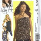 Hilary Duff Top, Tunic Sewing Pattern McCalls 5585 Size 12, 14, 16, 18