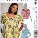 Misses Loose Tops Sewing Pattern McCalls 5589 Size 8, 10, 12, 14, 16