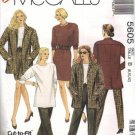 McCalls 5605 Misses Jacket, Top, Skirt, Pants Sewing Pattern Size 8, 10, 12