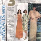 McCalls 5609 Misses 70s Dress, Cover-Up Sewing Pattern Size 16, 18, 20