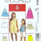 McCalls 5614 Girls Sewing Pattern Dress Top Pants Size 7, 8, 10, 2, 14