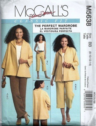 McCalls 5638 Misses Jacket Top Pants Sewing Pattern Size 8, 10, 12, 14
