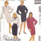 McCalls 5667 Misses 90s Shift Dress Sewing Pattern Size 8, 10, 12