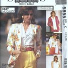 McCalls 5855 Misses Cardigan, Blouse Sewing Pattern Size 10, 12, 14