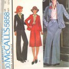 Misses 70s Jacket, Skirt, Pants Sewing Pattern Size 10 McCalls 5858