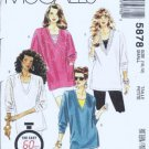 McCalls 5878 Misses Tunic, Tank Top 1 Hr Sewing Pattern Size 10, 12