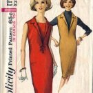 Misses 60s Sheath Dress, Jumper Sewing Pattern Simplicity 5535 Size 14