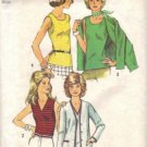 Simplicity 5584 Misses 70s Top, Cardigan Sewing Pattern Size 10