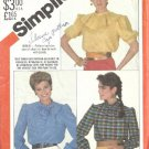Simplicity 5608 Misses Blouse 80s Vintage Sewing Pattern Size 16