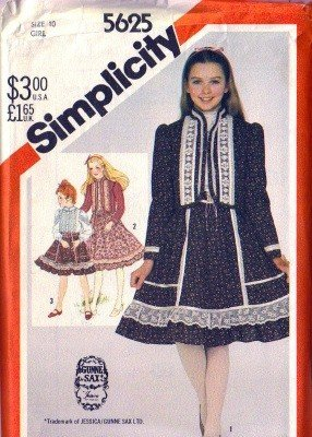 Girls Gunne Sax Jacket, Blouse, Skirt Pattern Simplicity 5625 Size 10