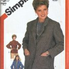 Simplicity 5664 Misses Unlined Jacket Sewing Pattern Size 12